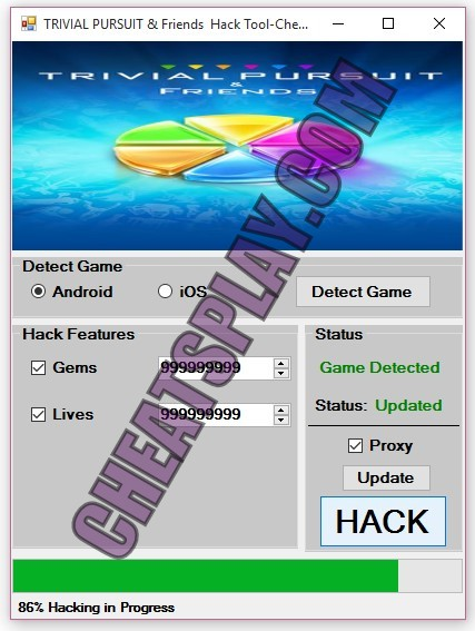 Trivial Pursuit and Friends Hack Tool