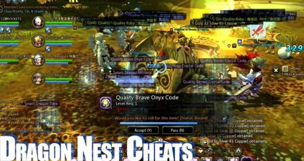 dragon nest cheats