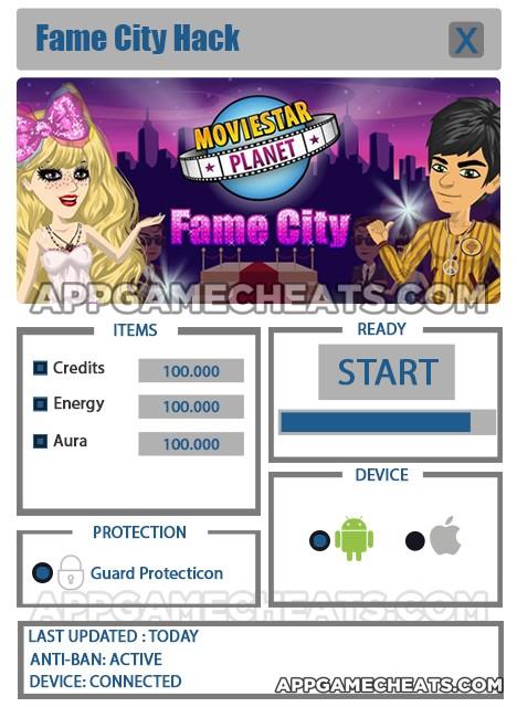 fame-city-cheats-hack-credits-energy-aura
