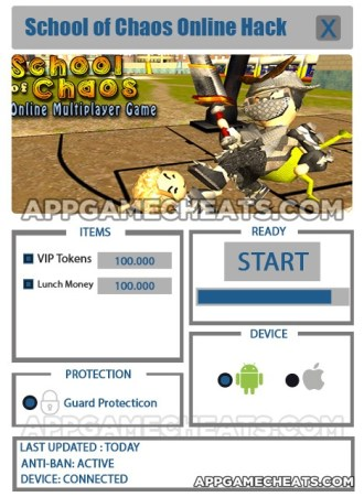 School of Chaos Online Hack for VIP Tokens & Lunch Money