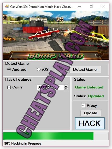 Car Wars 3D Demolition Mania Hack Tool