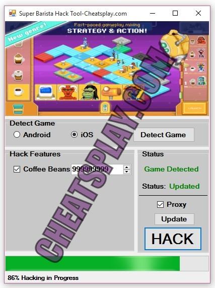 Super Barista Hack Tool