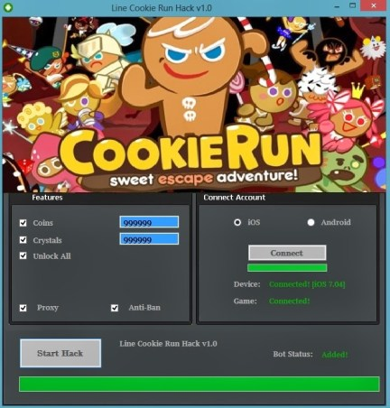 Line Cookie Run Hack Cheat