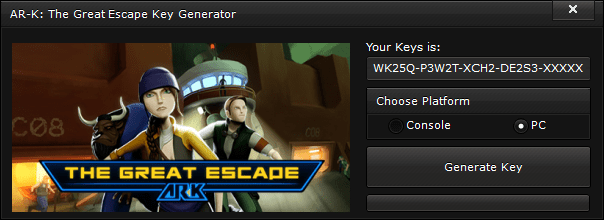 ar k the great escape key generator free activation code 2015 AR K The Great Escape Key Generator – FREE Activation Code 2015