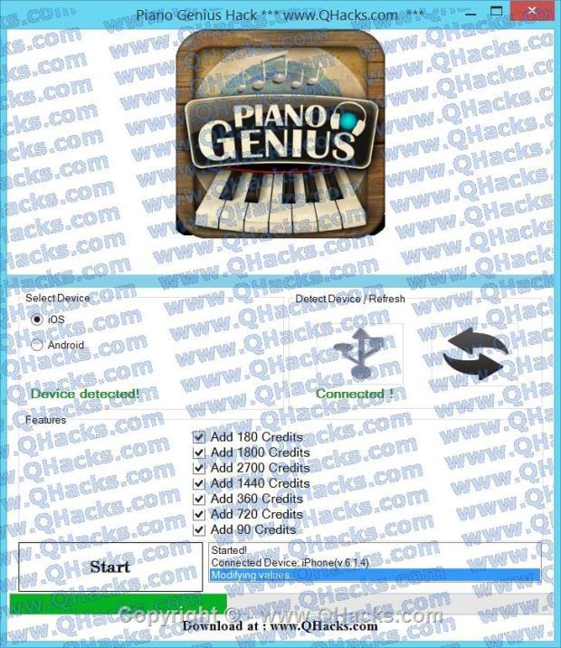 Piano Genius hacks