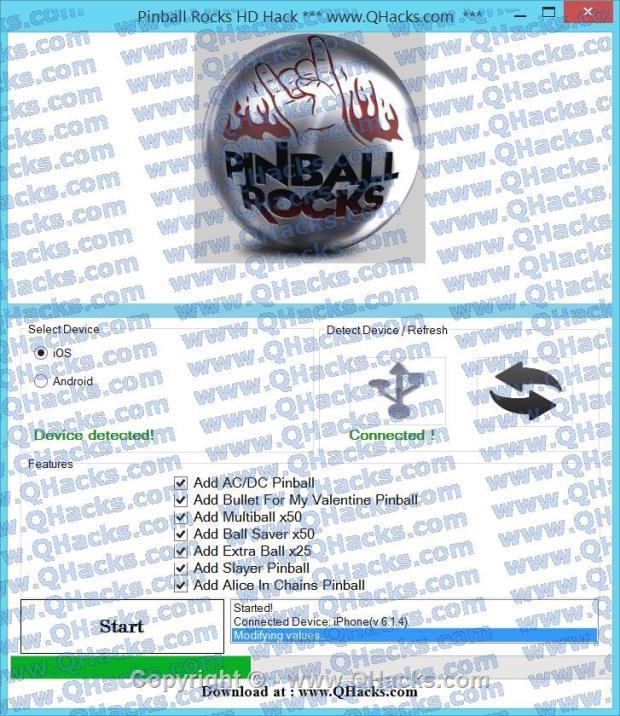 Pinball Rocks HD hacks