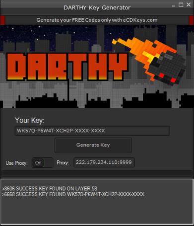 DARTHY CD-Key Generator