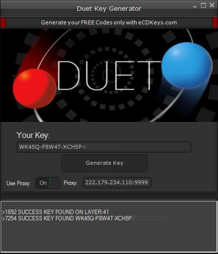 Duet cd-key