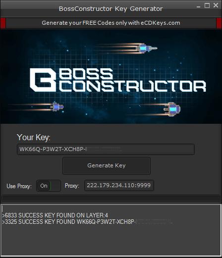BossConstructor cd-key