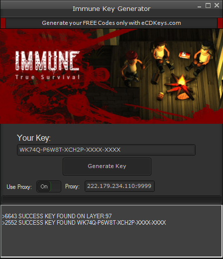Immune cd-key