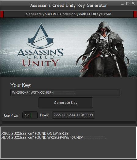 Assassin's Creed Unity cd key