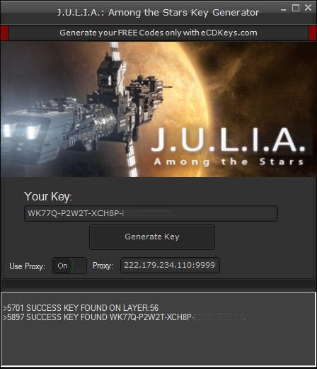 J.U.L.I.A. Among the Stars cd key