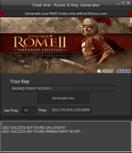 Total War Rome II cd Key