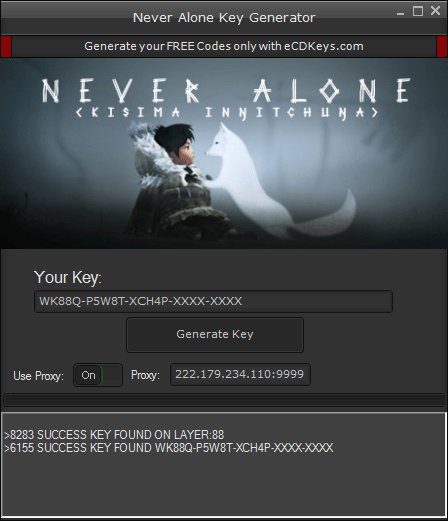 Never Alone cd-key