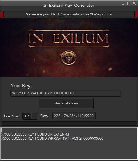 In Exilium cd-key