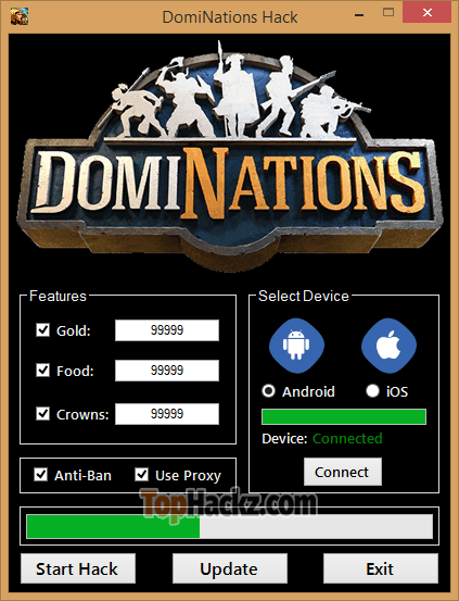 DOMINATIONS HACK – UNLIMITED GOLD, FOOD