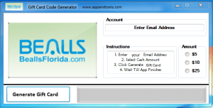 Bealls Florida Gift Card Generator