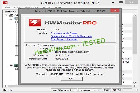 CPUID HWMonitor 1.37 Full Crack