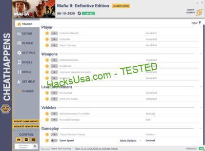 Mafia 2 Definitive Edition Trainer +14 (2020) Unlimited Health