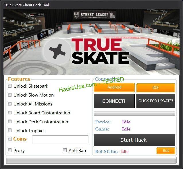 True Skate Hack Unlock skatepark Unlock slow motion