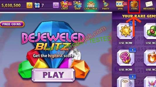 Bejeweled Blitz Patch and Cheats coins
