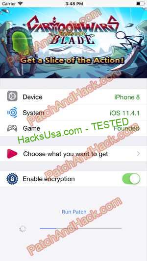 Cartoon Wars: Blade Hack - patch and cheats for Money and other stuff on Anroid and iOS