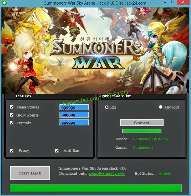 Summoners War – Sky Arena Hack crystals Unlimited glory points