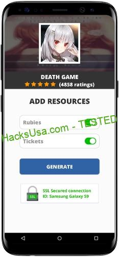 Death Game MOD APK Unlimited Rubies Tickets