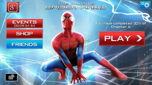 The Amazing Spider Man 2 Hack spider points Unlimited health