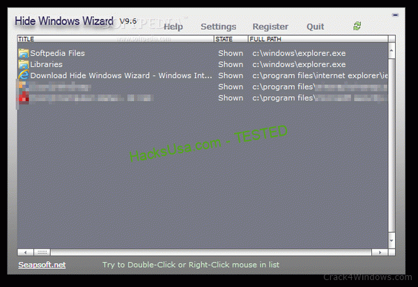 Hide Windows Wizard 9.6 Crack Plus Keygen