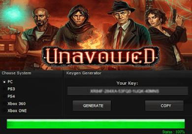 UNAVOWED KEY GENERATOR KEYGEN FOR FULL GAME + CRACK