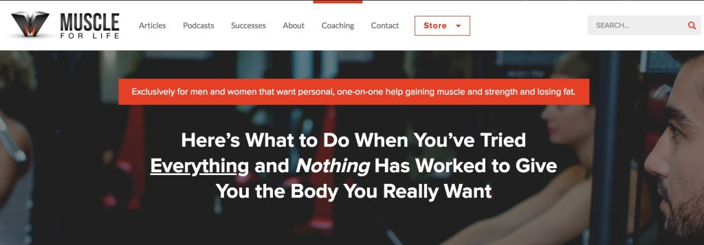 fitness sales page headline