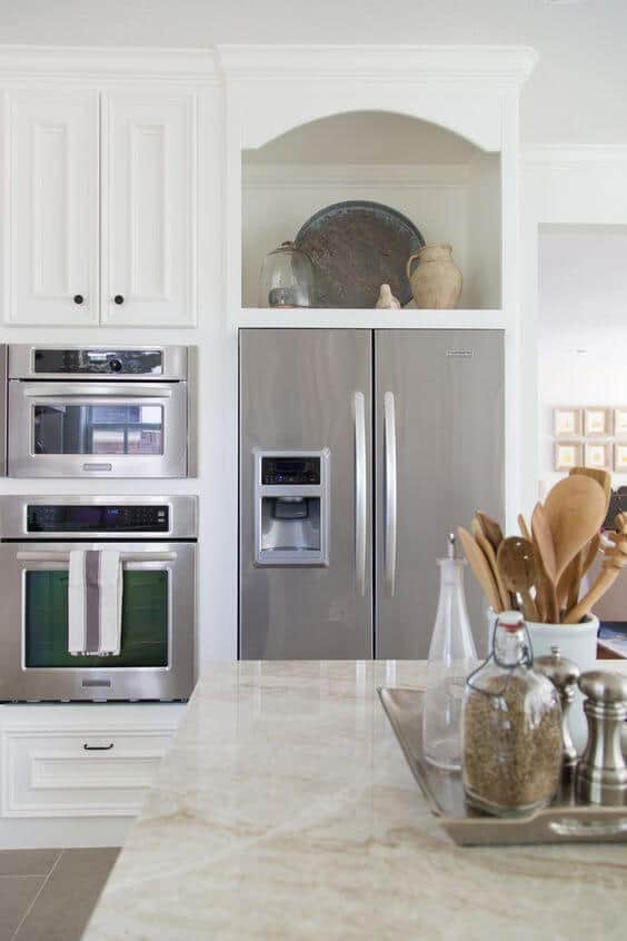 top kitchen cabinets delta faucets parts 32 around refrigerator for more storage space