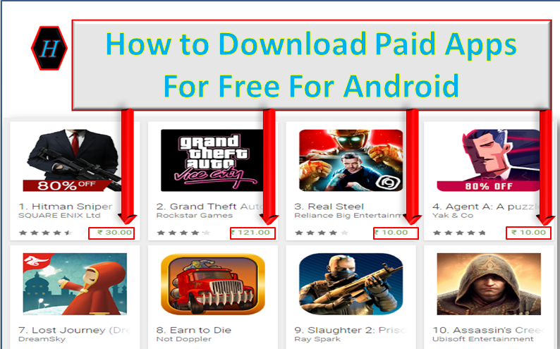 How to download paid apps for free for android
