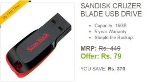 ebay sandisk 16gb pendrive at Rs 79