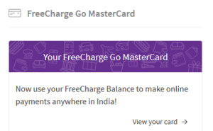 freecharge free credit card