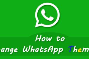 Change WhatsApp Themes