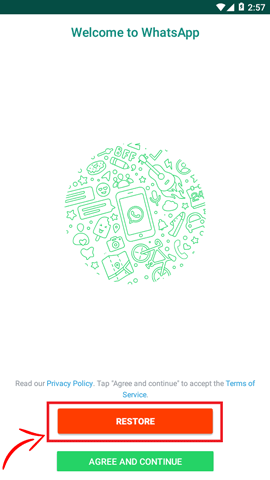 restore yowhatsapp data