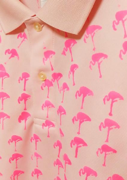 紳士的フラミンゴのポロシャツ