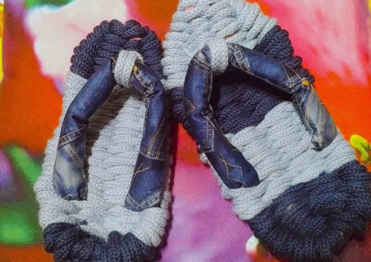 毛糸の草履(room shoes