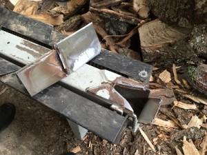 broken log splitter