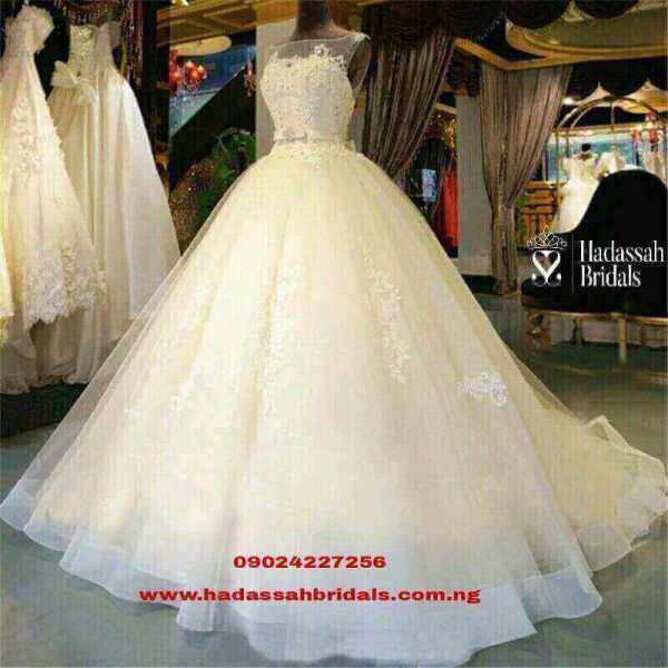 Long tail ball wedding gowns