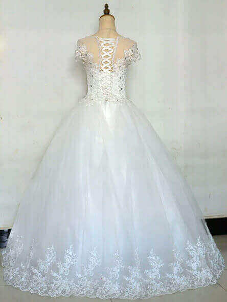 Ball Wedding Gown With Tank Sleeve