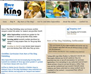 Screen Capture of More of the King Web site home page