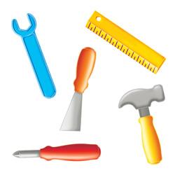 tools bulletin board set