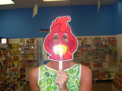 Little Red Hen mask