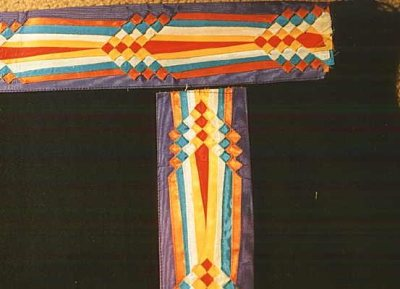 Osage ribbon work