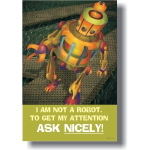 robot manners poster