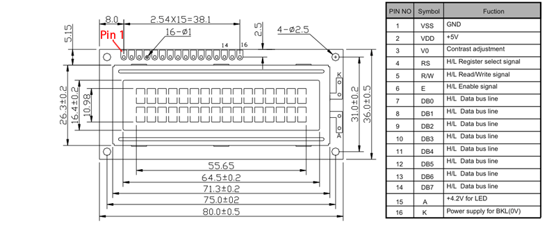 lcd display with microcontroller schematic
