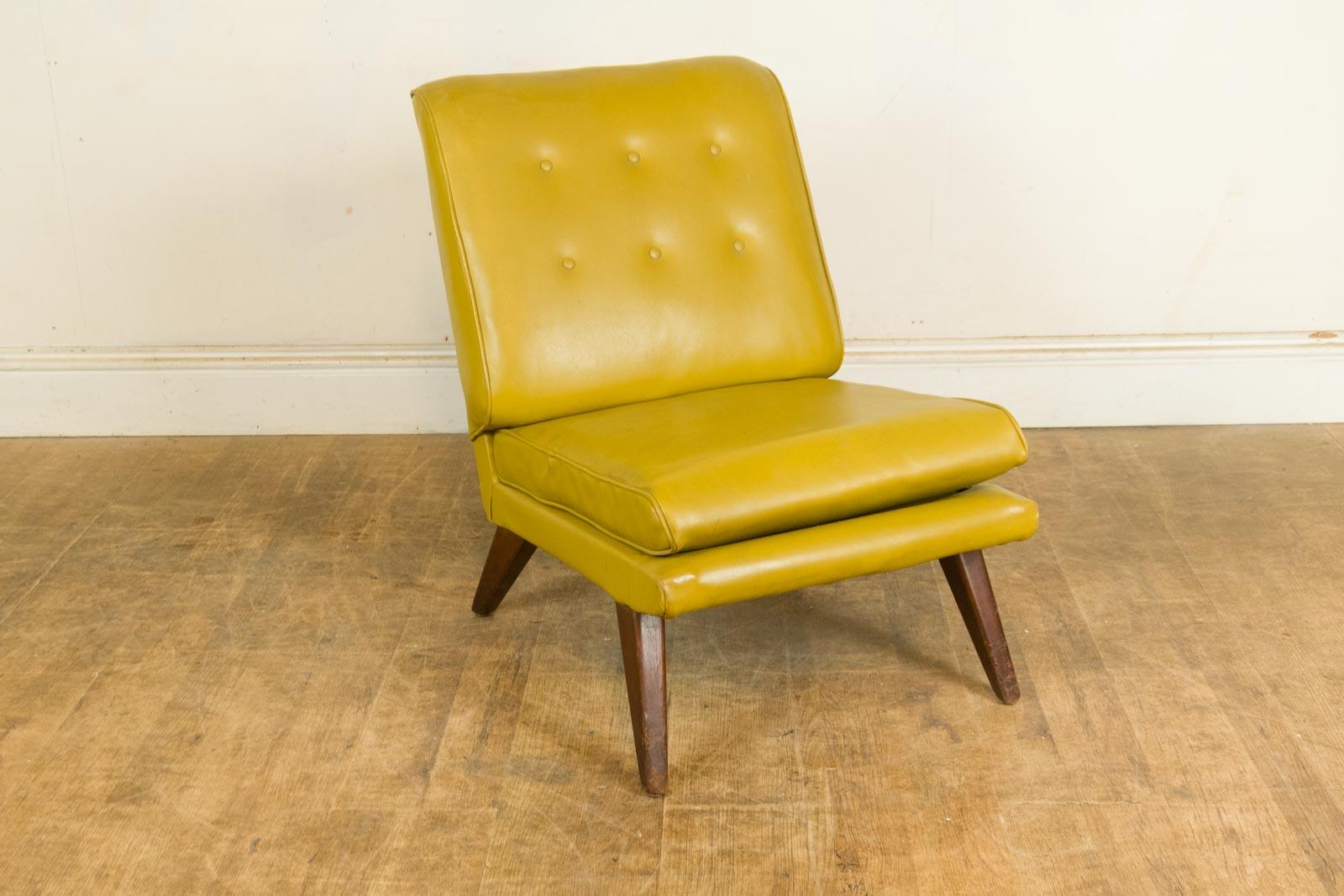 bedroom chair retro kohls cushions vintage green vinyl low by g plan e
